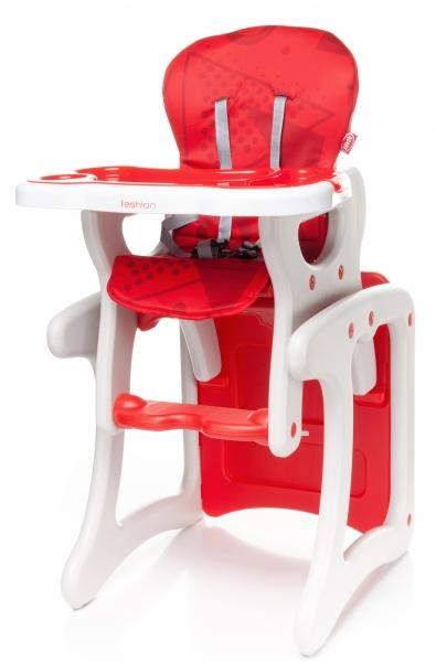 Jedálenský stolček červený