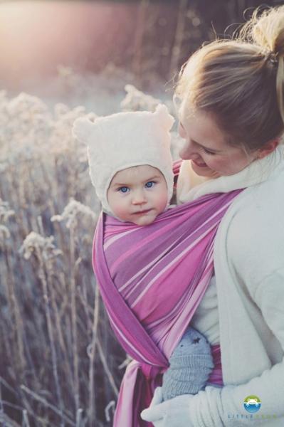 Little FROG Tkaný šatka na nosenie detí -  KUNZYT