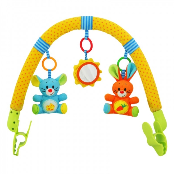 Oblúk s hračkami ku kočíku