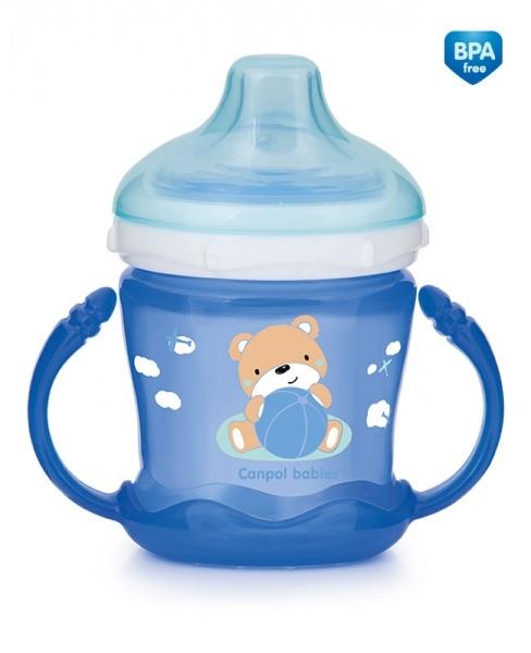 Hrnček Canpol Babies Sweet Fun - modrý
