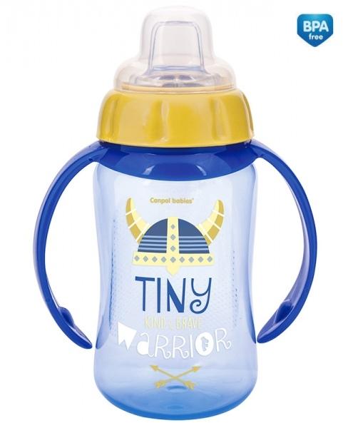 Canpol Babies hrnček s úchytkami Future Daydreams - modrý