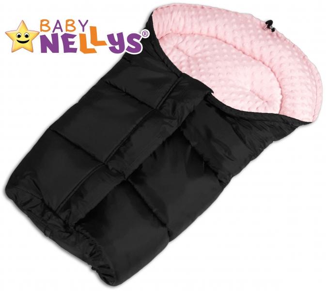 Fusak nielen do autosedačky Baby Nellys ® Minky - sv. ružový