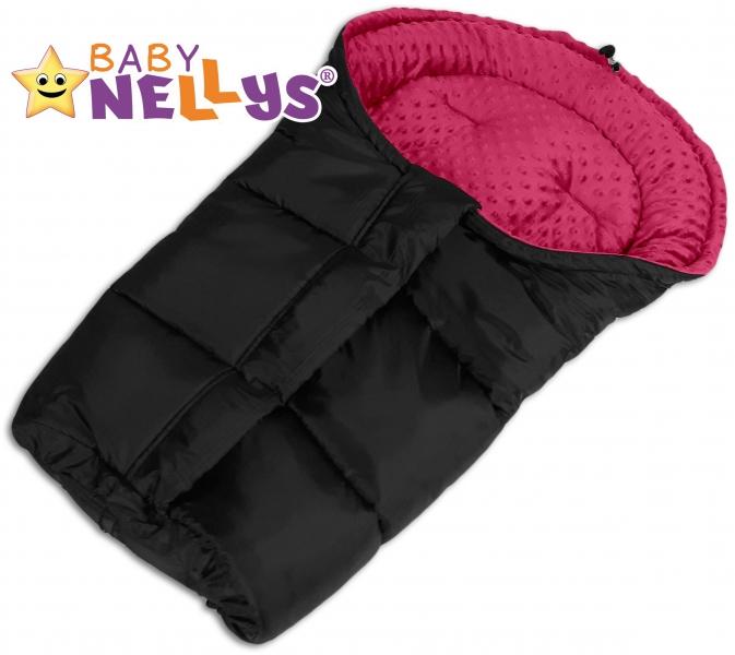 Fusak nielen do autosedačky Baby Nellys ® Minky - sýto ružový