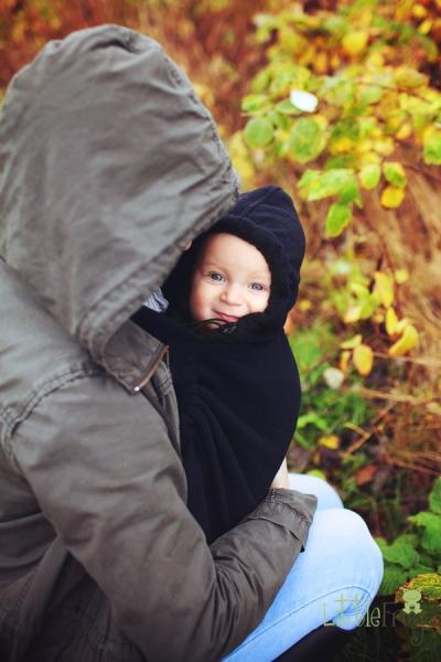 Little FROG Baby vak - fleece - čierný