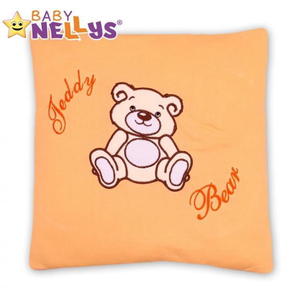 Vankúšik 40x40 TEDDY Baby Nellys - broskyňový
