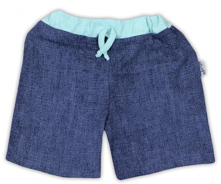 Bavlnené kraťasky NICOL ŽIRAFKA - jeansová-98 (24-36m)