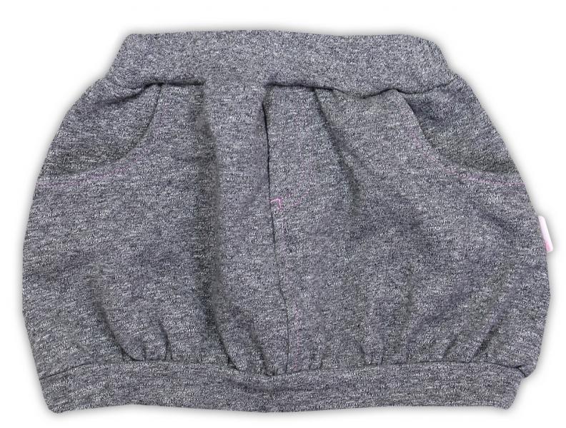 Suknička NICOL SUPERSTAR - melír sivá-80 (9-12m)