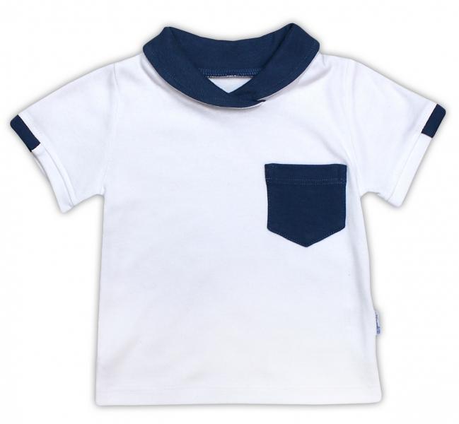 Bavlnené tričko / polo NICOL SEDEM - krátky rukáv - biela