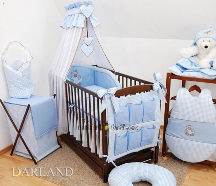 Luxusný mega set Š - Medvedík so srdiečkom kostička modrá