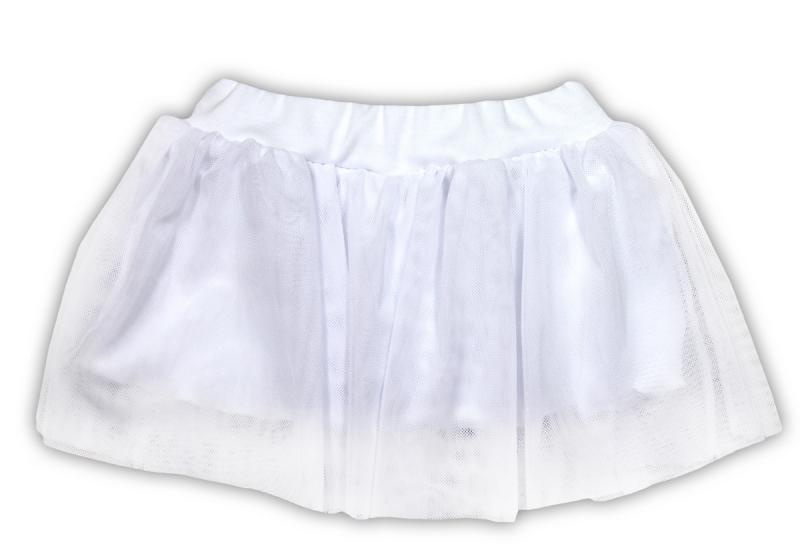 Tutu suknička NICOL KVETINKA - biela-74 (6-9m)