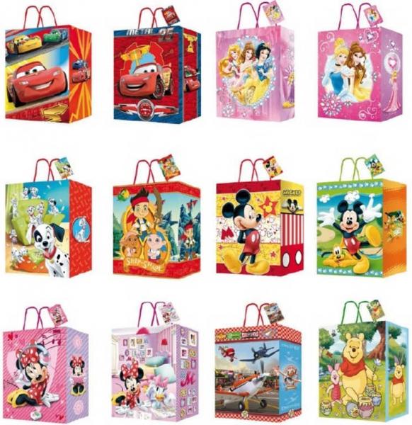 Darčeková taška Disney 12 druhov - 1ks.