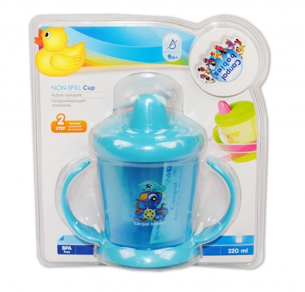 Hrnček Canpol Babies s tvrdým náustkom - modrý