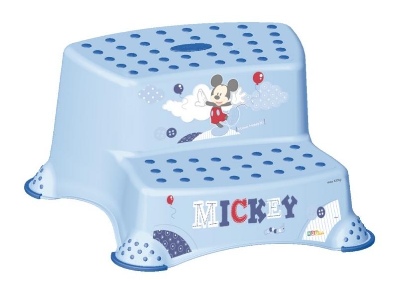 Stolička - schodíky s protišmykovou funkciou - Mickey Mouse