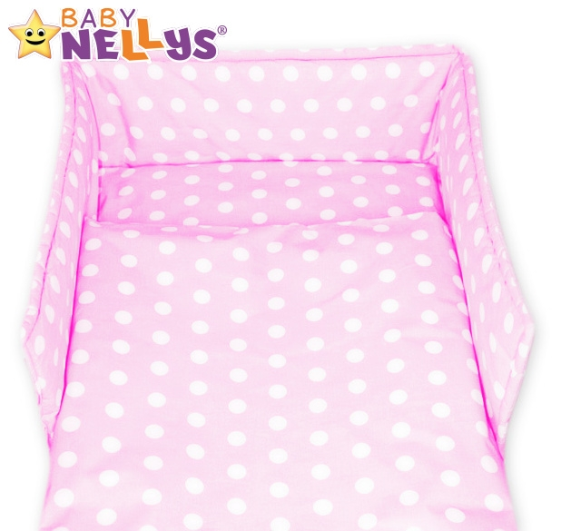 Baby Nellys Mantinel s obliečkami 135x100 - Bubble retro ružové