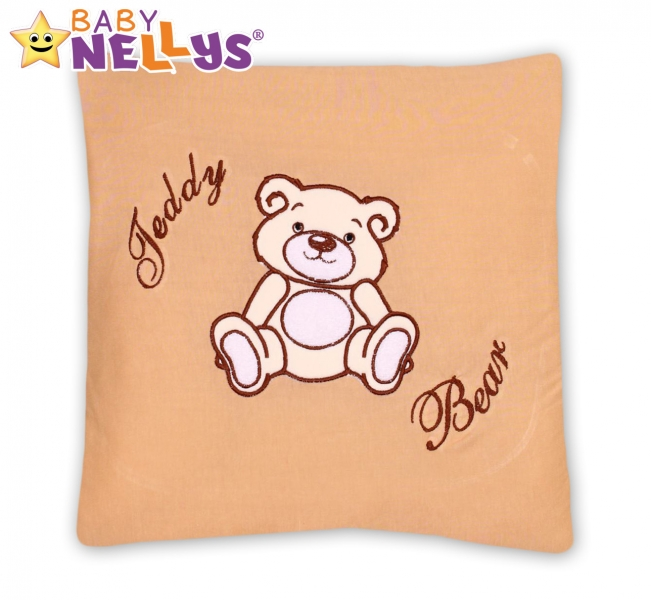 Vankúšik 40x40 TEDDY Baby Nellys - sv. hnedá