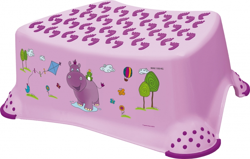 Keeeper Stolička s protišmykovou funkciou - Hippo fialová