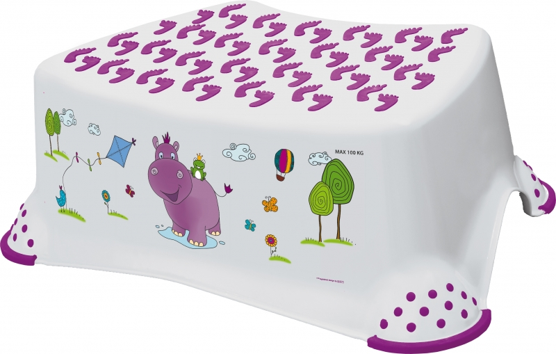 Keeeper Stolička s protišmykovou funkciou - Hippo biela