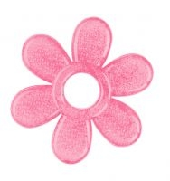 BabyOno Hryzátko gélové Baby Ono Kvetinka - ružové