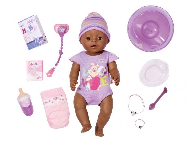 Bábika interaktívne BABY born černoško