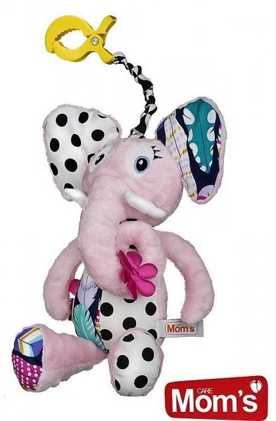 Edukačná hračka Hencz s pískátkem SLONÍK - ružový