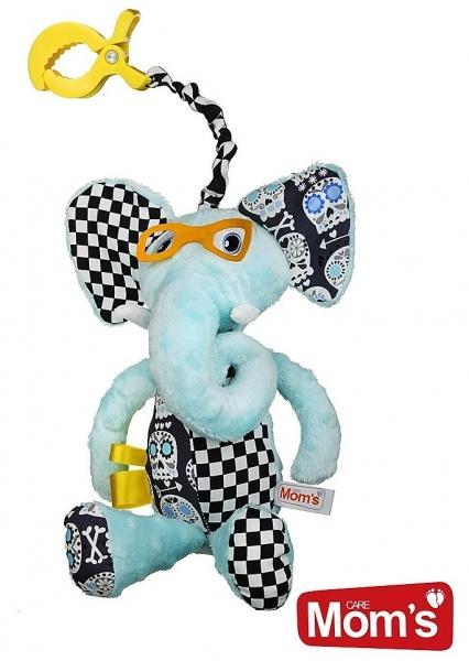 Edukačná hračka Hencz s pískátkem Sloník - modrý