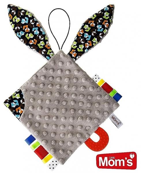 Edukačná hračka Hencz Kostičky šustík, s hryzátkom - MINKY - kávová