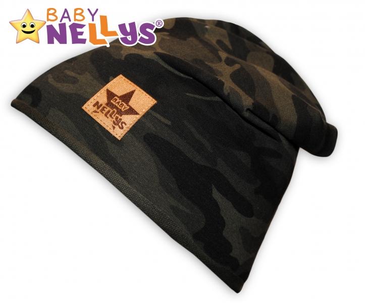 Bavlnená čiapočka Army Baby Nellys ® - zelená