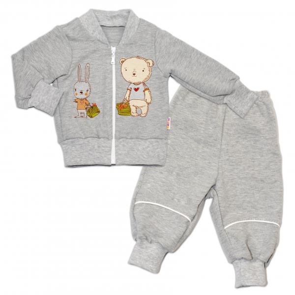 Bavlnená tepláková súprava Baby Nellys ® - šedá