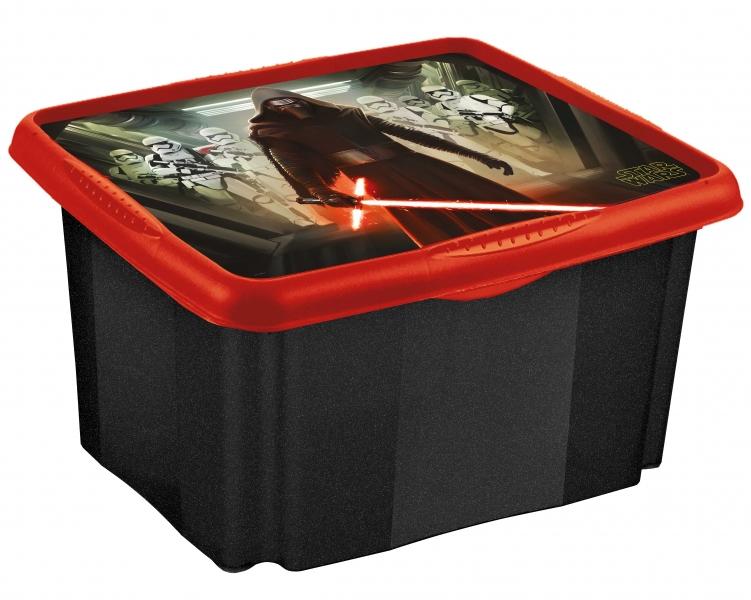 Keeeper Box na hračky Star Wars  24 l - čierný