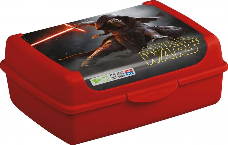 Box na desiatu Star Wars 1 l - červený