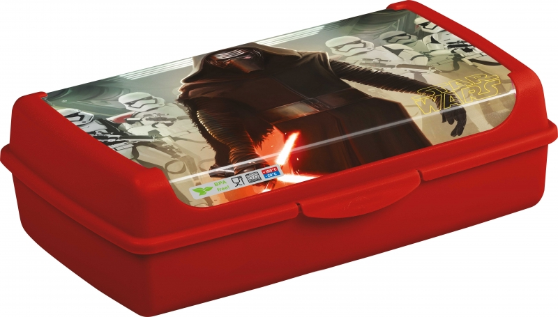 Box na desiatu Star Wars 3,7 l - červený