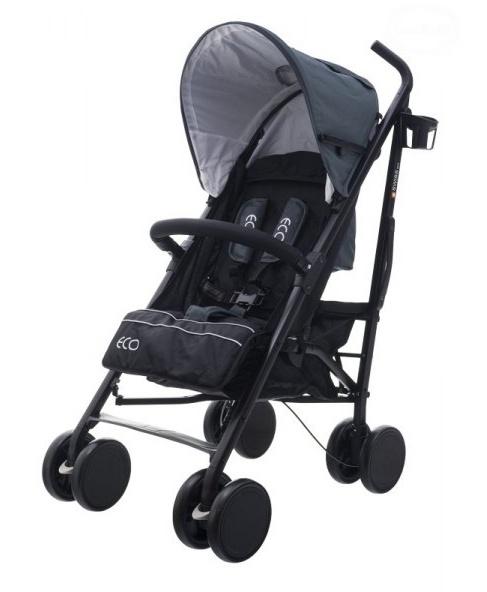 Euro Baby Športový kočík Eco Swiss design - middle grey, K19