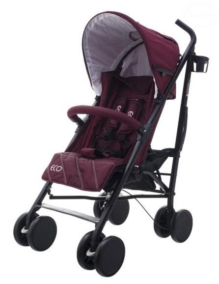 Euro Baby Športový kočík Eco Swiss design - purple red, K19