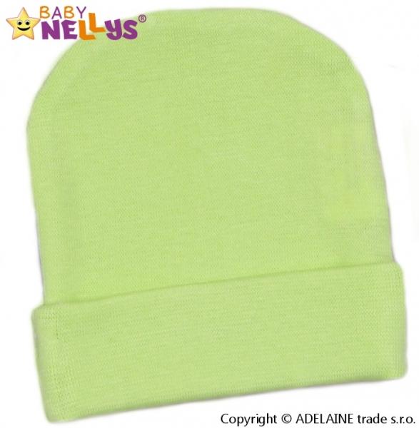 Baby Nellys Novorodenecká čiapočka - zelená