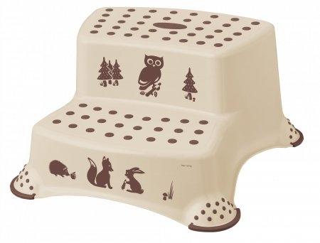 Stolička - schodíky s protišmykovou funkciou - Forest - hnedé