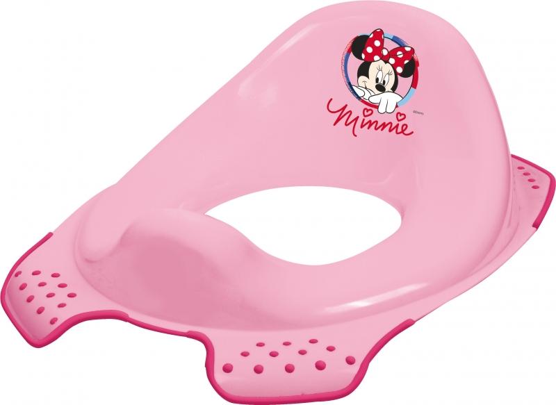Adaptér - tréningové sedádko na toaletu Minnie - ružový