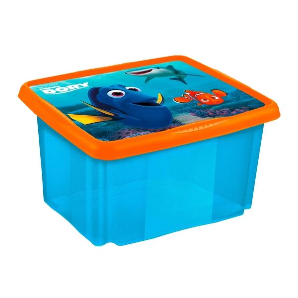 Box na hračky Hľadá sa Dory 45 l - modrý