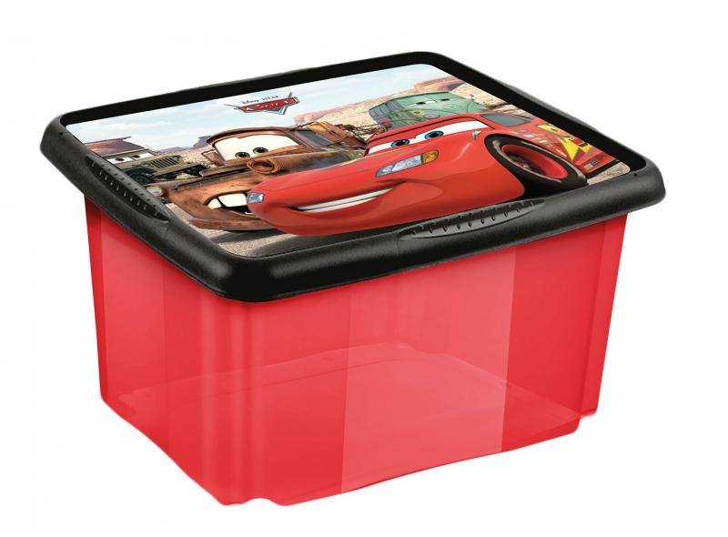 Keeeper Box na hračky Cars  24 l - červený