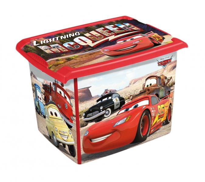 Box dekoratívny Cars 20,5 l - čierna/červená