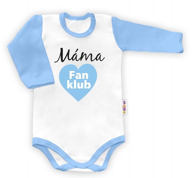Baby Nellys Body dlhý rukáv Máma Fan klub, veľ. 80