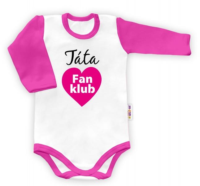 Baby Nellys Body dlhý rukáv Táta Fan klub Fan klub
