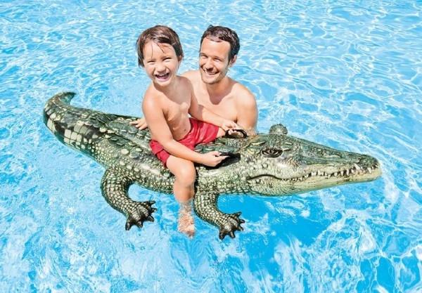 Teddies Krokodíl nafukovací 170x86cm od 3 rokov