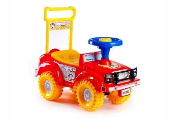 Teddies Odrážadlo auto Yupee červené 53,5x48,3x26cm v krabici od 12 do 35 mesiacov