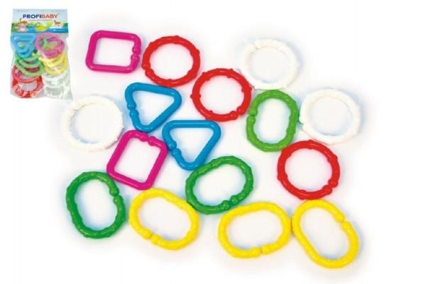 Reťaz / zábrana tvary plast 7cm 16ks v sáčku 3m +