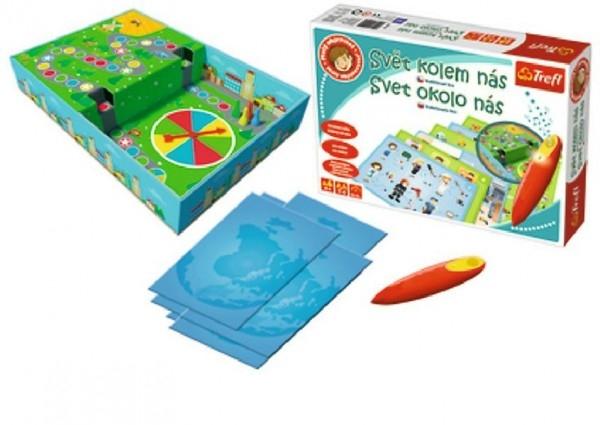 Teddies Malý objaviteľ Svet okolo nás + kúzelná ceruzka edukačné spoločenská hra v krabici