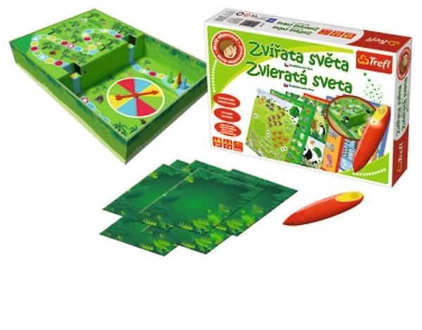 Teddies Malý objaviteľ Zvieratá sveta + kúzelná ceruzka edukačné spoločenská hra v krabici