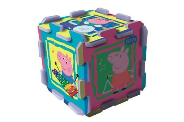 Teddies Penové puzzle Peppa Pig 32x32x1cm v sáčku