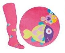 YO !  YO! Bavlnené pančucháčky Rybičky - tm. ružová