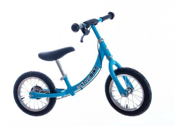 """Teddies Odrážadlo modré kov 12 """"nosnosť 30kg v krabici Active Bike 2+"""