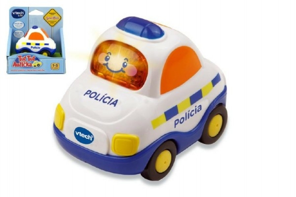 Autíčko Tut Tut Polícia česky hovoriaci plast 8cm na batérie so zvukom so svetlom